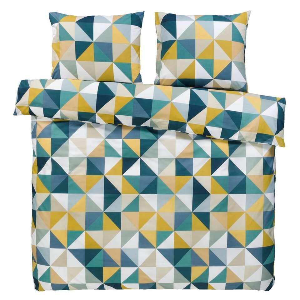 Comfort dekbedovertrek Reykjavik - geel/blauw - 240x200/220 cm