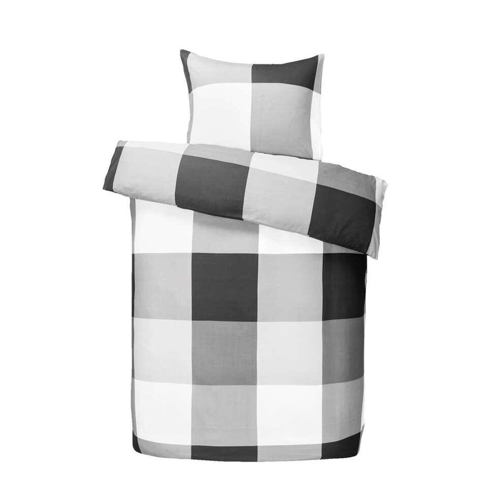 Dekbedovertrek Thijs - zwart/wit - 140x200 cm - Leen Bakker