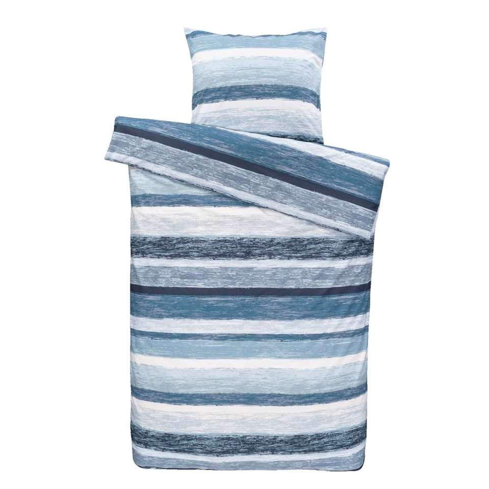Dream dekbedovertrek Matthew - blauw - 140x200 cm - Leen Bakker
