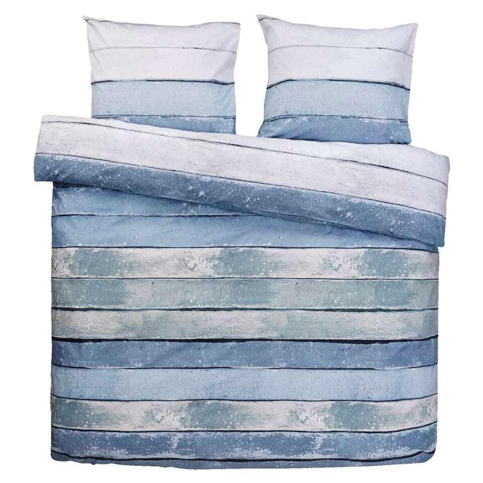 Comfort dekbedovertrek Xander blauw/groen - 240x200/220 cm
