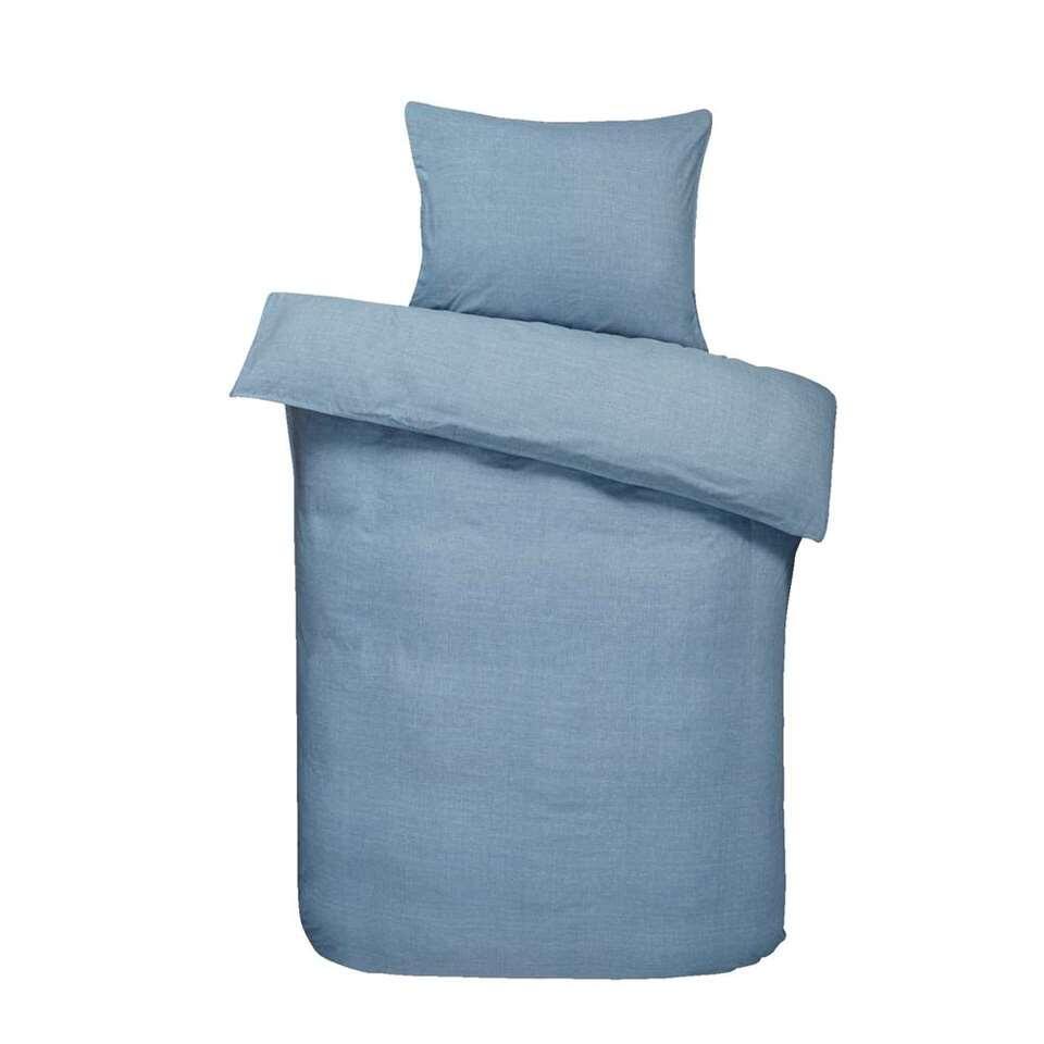 Essentials dekbedovertrek Dean - blauw - 140x200 cm - Leen Bakker