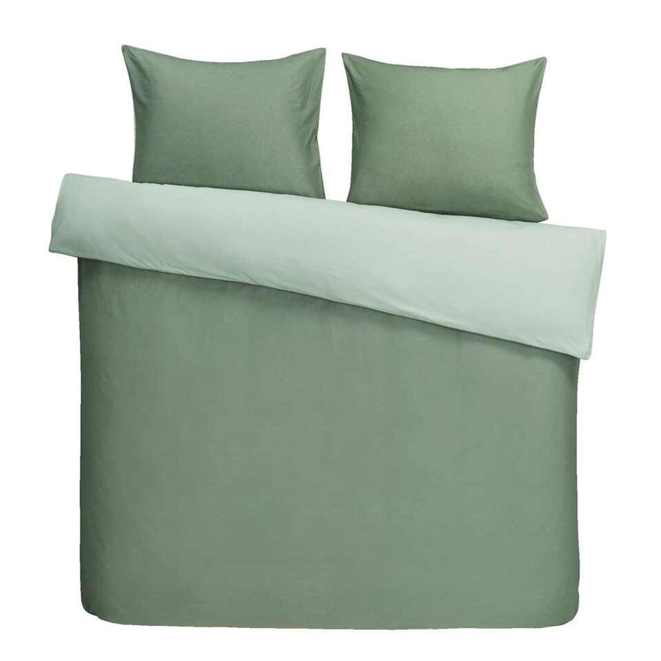 Dream dekbedovertrek Bobbi - groen - 200x200/220 cm - Leen Bakker