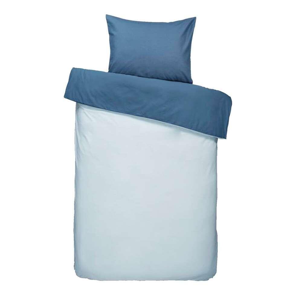 Dream dekbedovertrek Bobbi - blauw - 140x200/220 cm - Leen Bakker