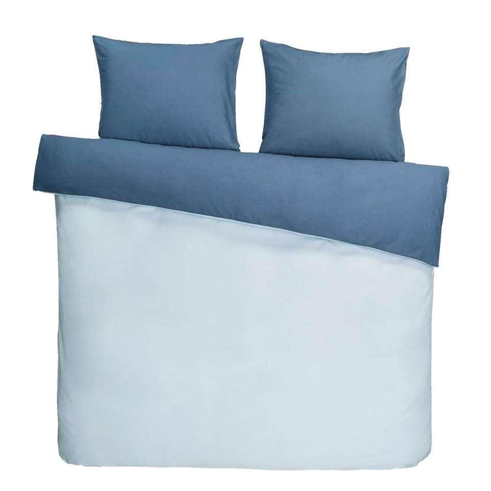 Dream dekbedovertrek Bobbi - blauw - 200x200/220 cm - Leen Bakker