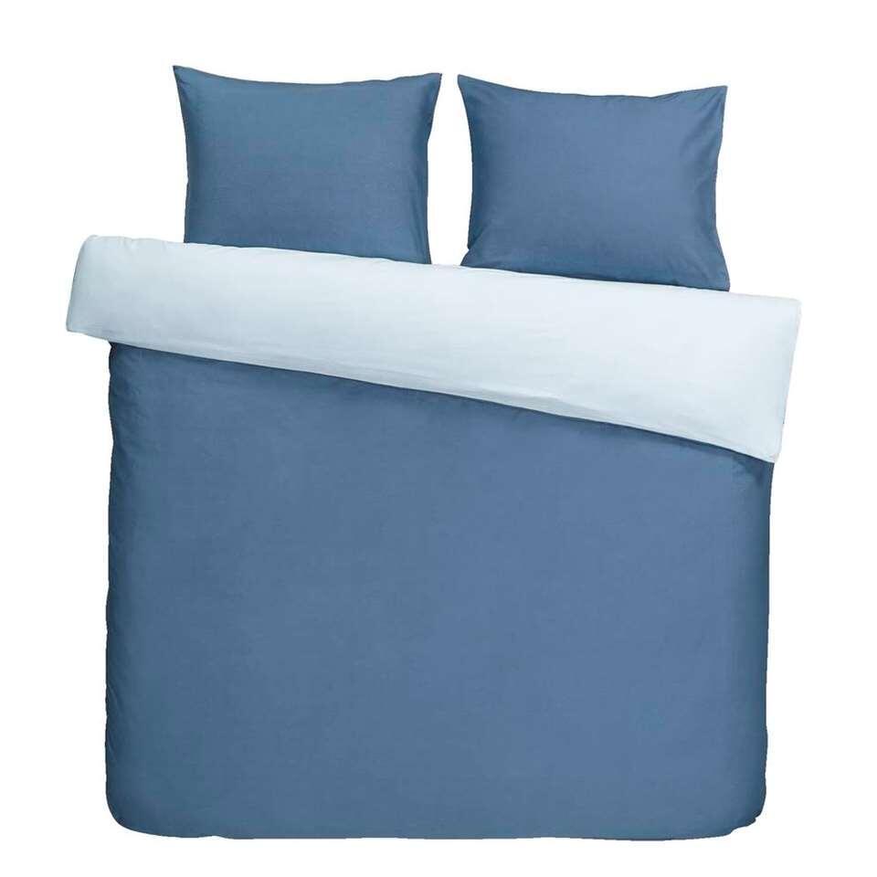 Dekbedovertrek Bobbi - blauw - 240x200/220 cm - Leen Bakker