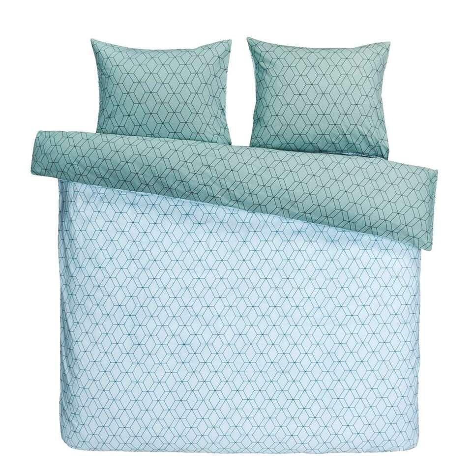 Comfort dekbedovertrek Rhodos - groen - 200x200/220 cm