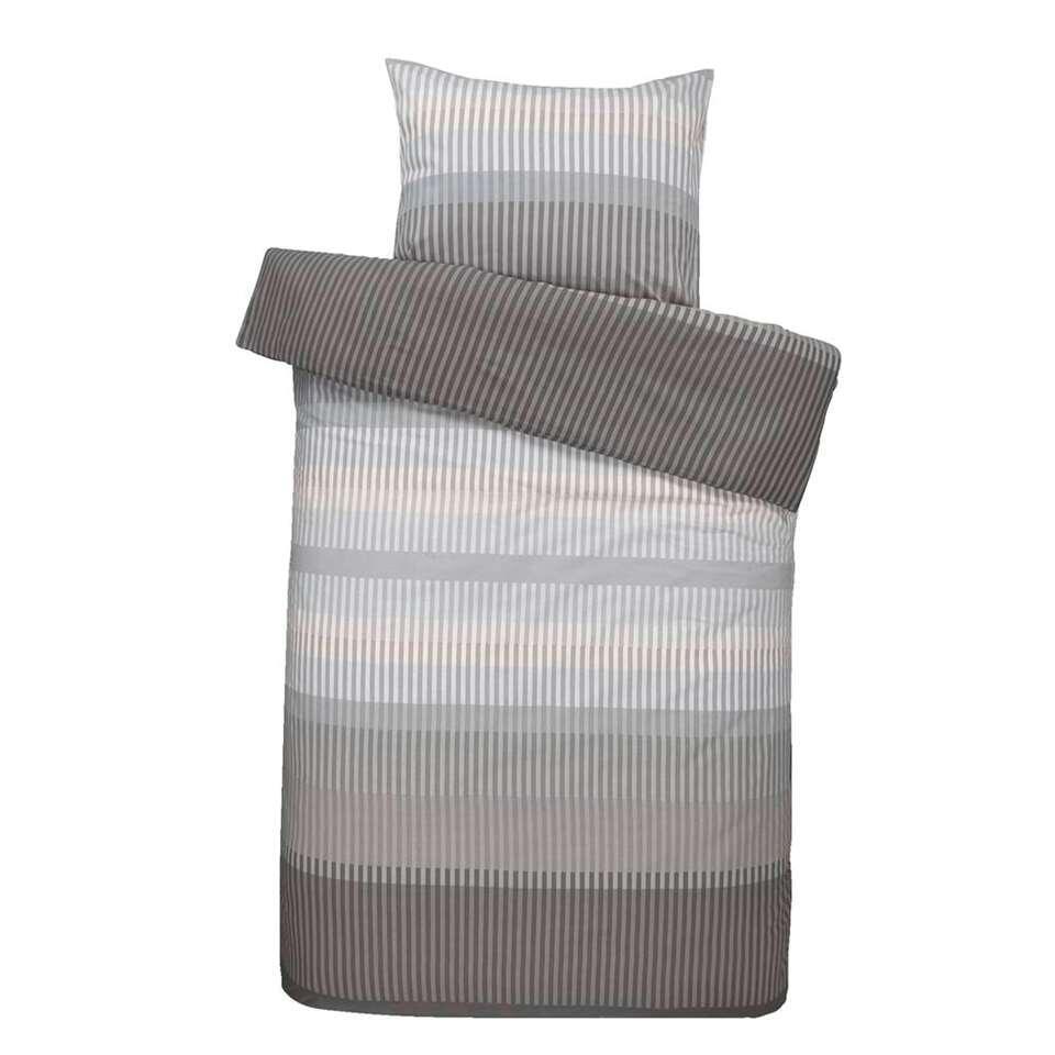 Comfort dekbedovertrek Kasper - grijs - 140x200/220 cm