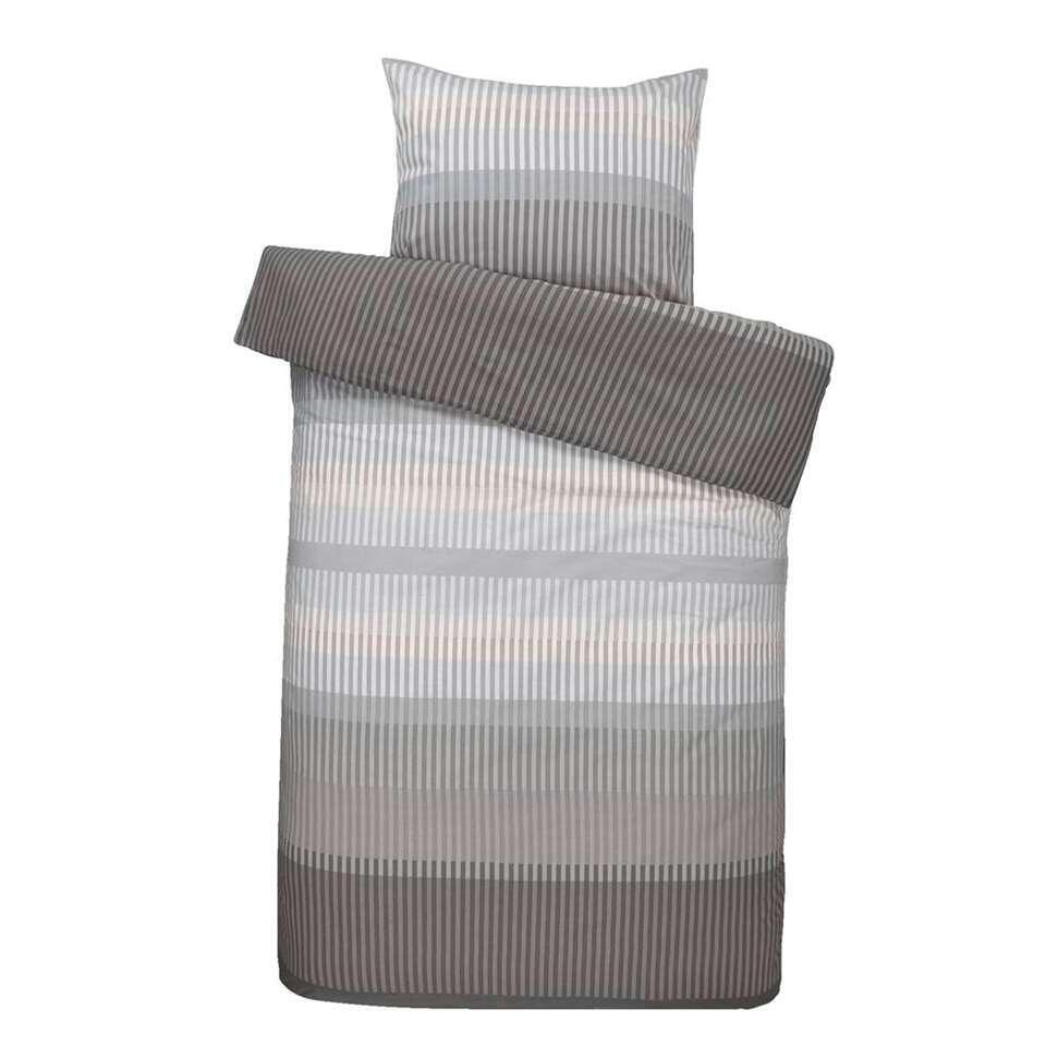 Comfort dekbedovertrek Kasper - grijs - 200x200/220 cm