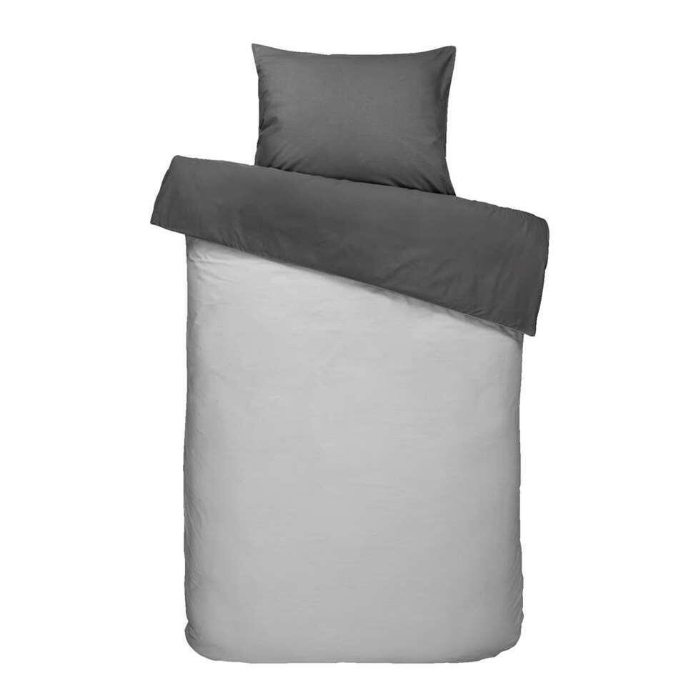 Dream dekbedovertrek Bobbi - antraciet - 140x200/220 cm - Leen Bakker