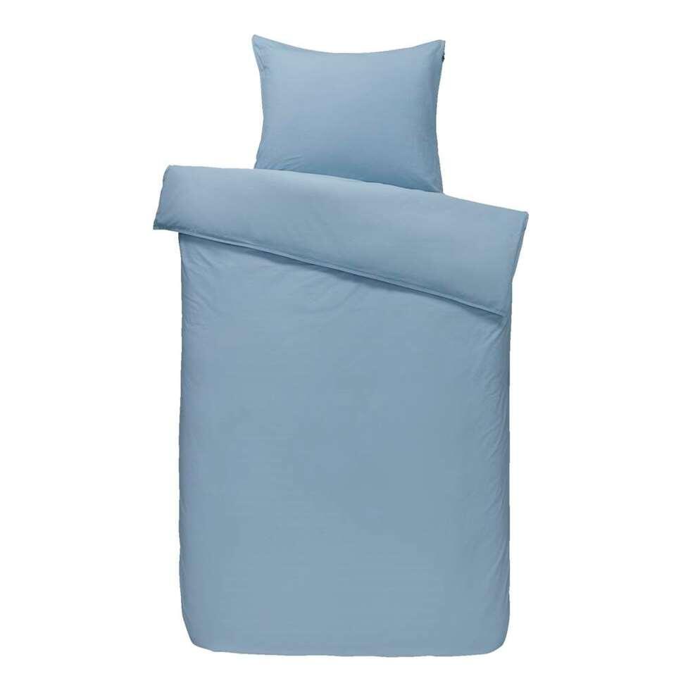 Comfort dekbedovertrek Ryan - blauw - 140x200/220 cm - Leen Bakker
