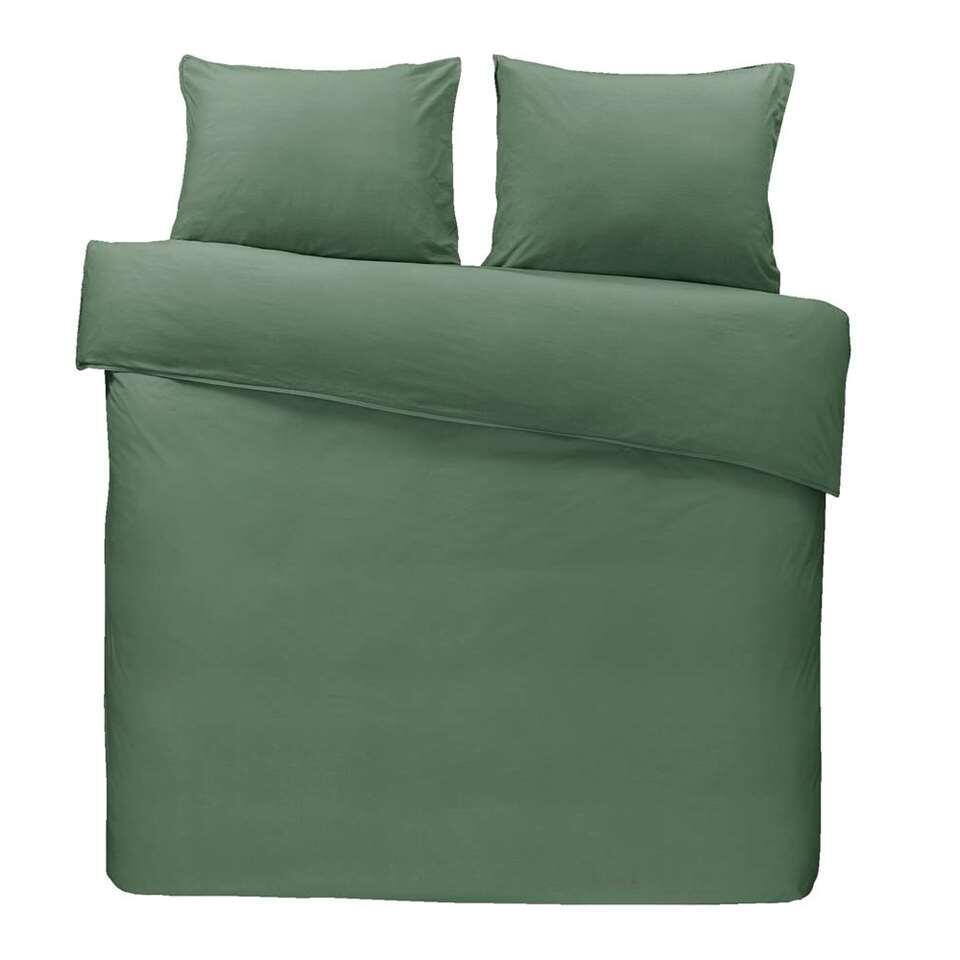 Dream dekbedovertrek Ryan – groen – 200×200/220 cm – Leen Bakker