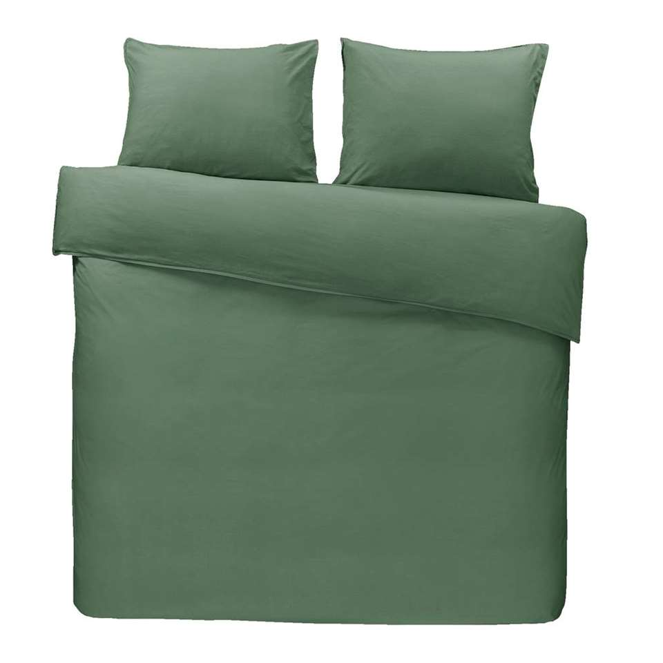 Dream dekbedovertrek Ryan - groen - 240x200/220 cm - Leen Bakker