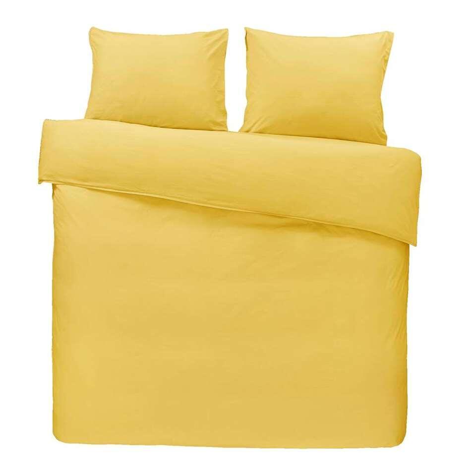 Comfort dekbedovertrek Ryan - geel - 200x200/220 cm