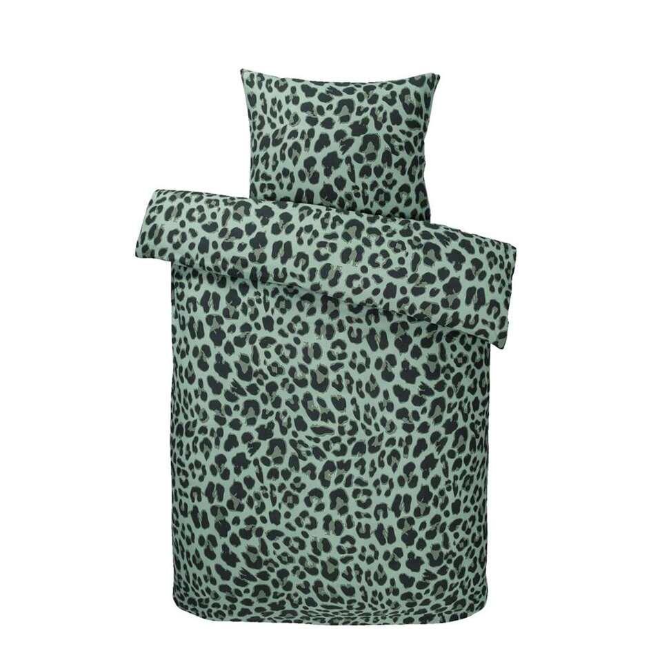 Essentials dekbedovertrek Renga - groen - 140x200 cm - Leen Bakker