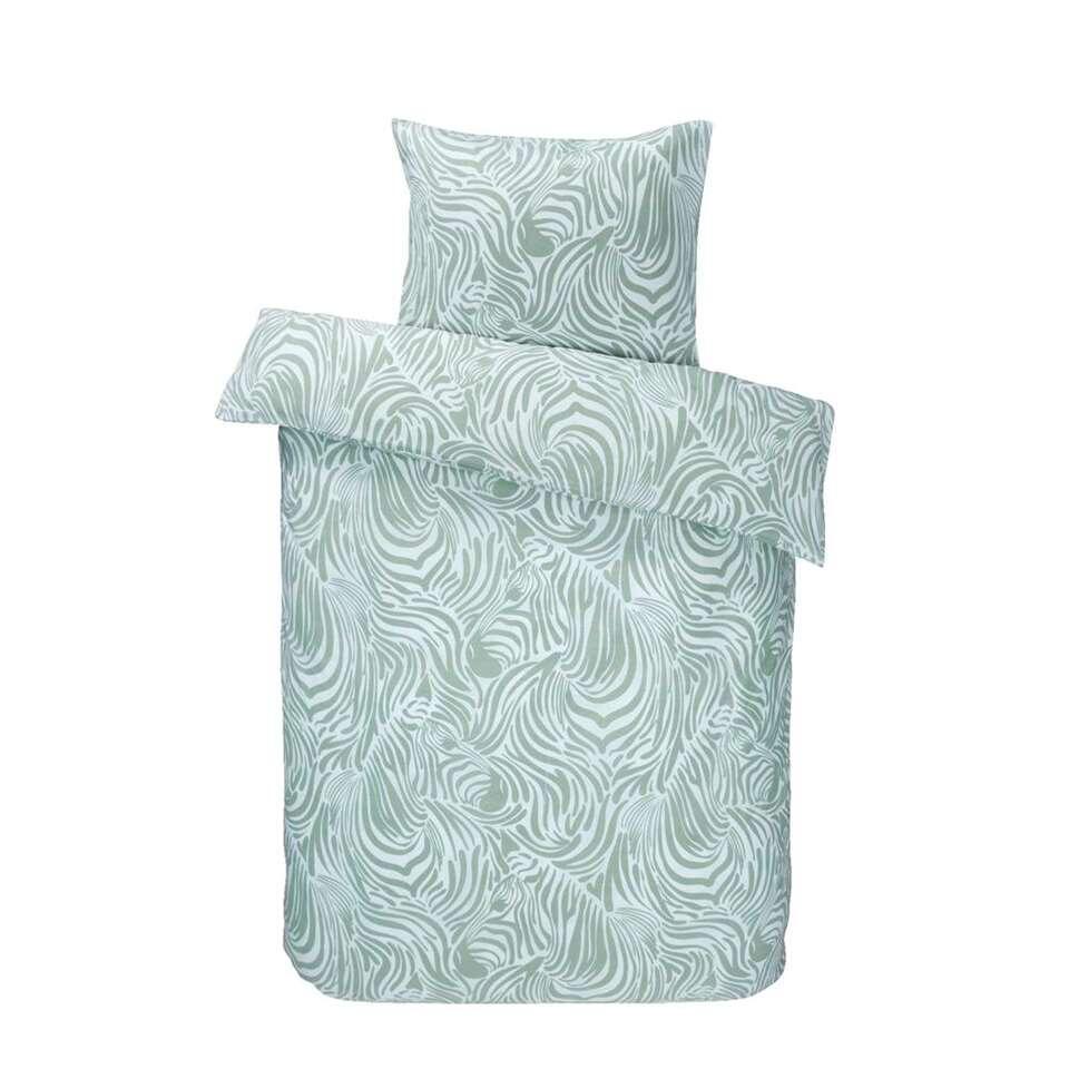 Comfort dekbedovertrek Zoe - lichtgroen - 140x200 cm