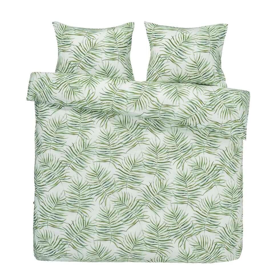 Essentials dekbedovertrek Astrid - groen - 200x200 cm - Leen Bakker