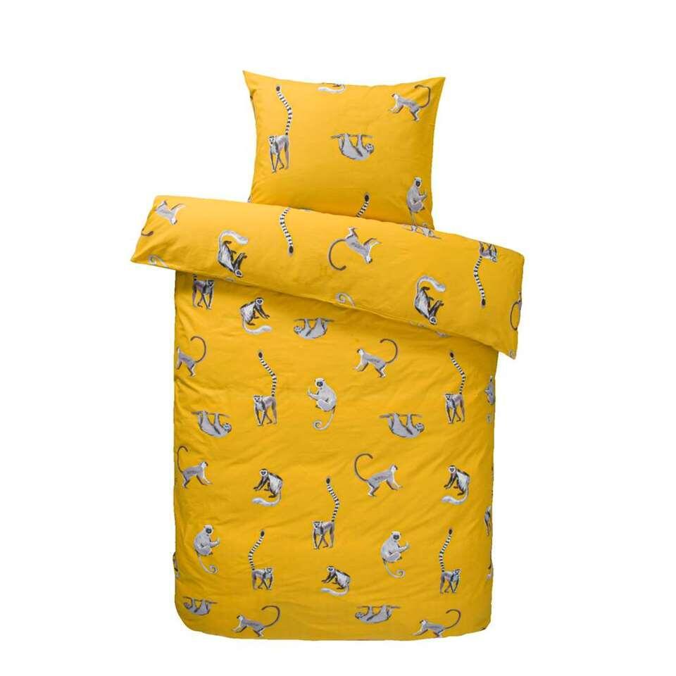 Comfort dekbedovertrek Nilson - geel - 140x200 cm - Leen Bakker