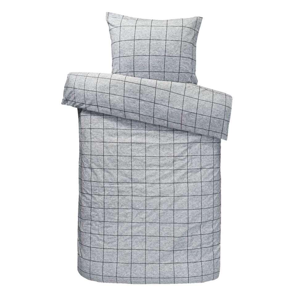 Comfort dekbedovertrek Seppe - grijs - 140x200/220 cm - Leen Bakker