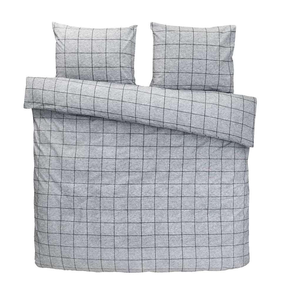 Comfort dekbedovertrek Seppe - grijs - 240x200/220 cm - Leen Bakker