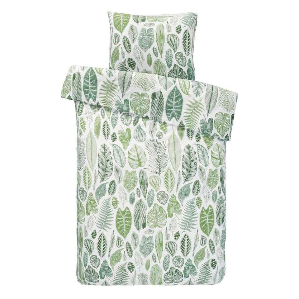 Comfort dekbedovertrek Julius - groen - 140x200/220 cm