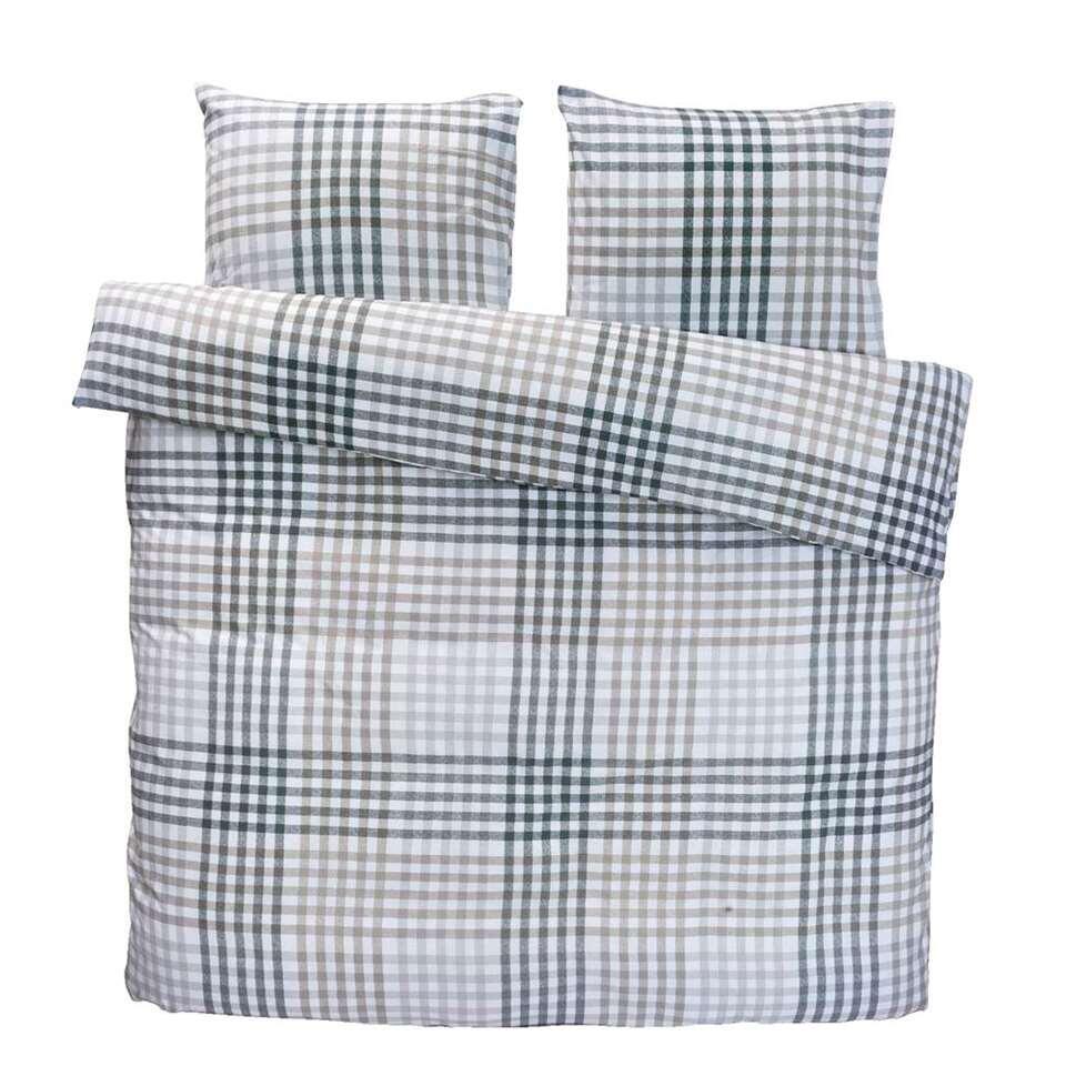 Comfort dekbedovertrek Joris - grijs - 200x200/220 cm - Leen Bakker