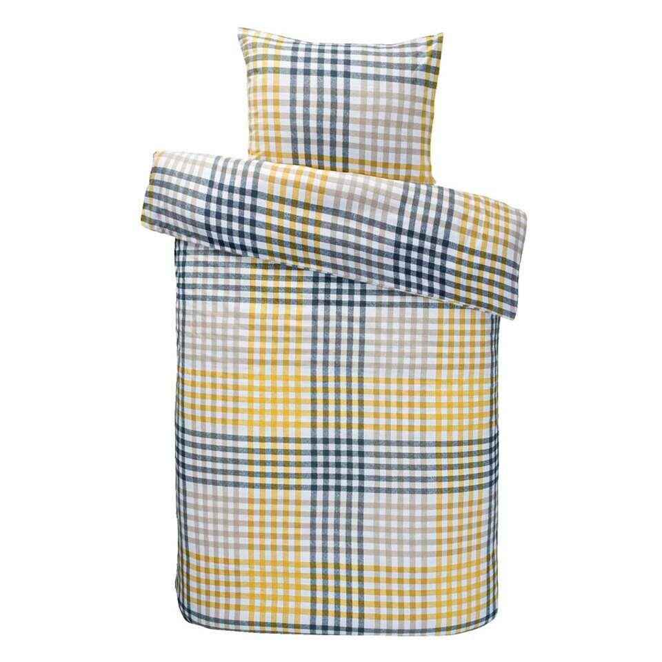 Comfort dekbedovertrek Joris - geel - 140x200/220 cm - Leen Bakker