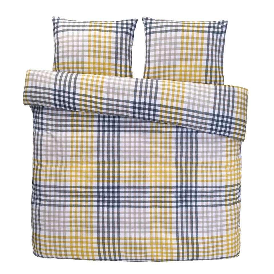 Comfort dekbedovertrek Joris - geel - 240x200/220 cm - Leen Bakker