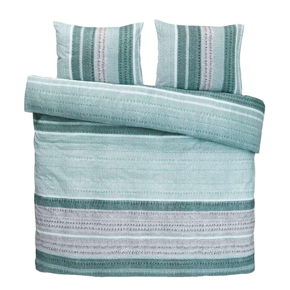 Comfort dekbedovertrek Liza - blauw/groen - 240x200/220 cm