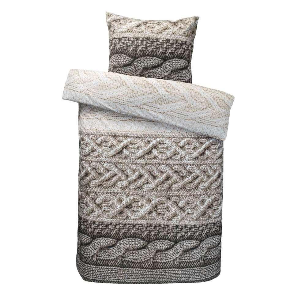 Comfort dekbedovertrek Tijmen - naturel - 140x200/220 cm