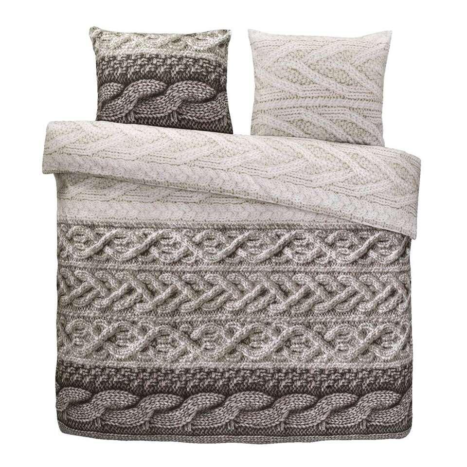 Comfort dekbedovertrek Tijmen - naturel - 200x200/220 cm