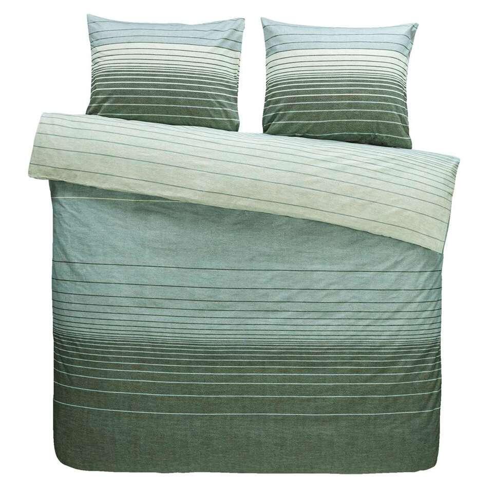 Comfort dekbedovertrek Stockholm - groen - 200x200/220 cm - Leen Bakker