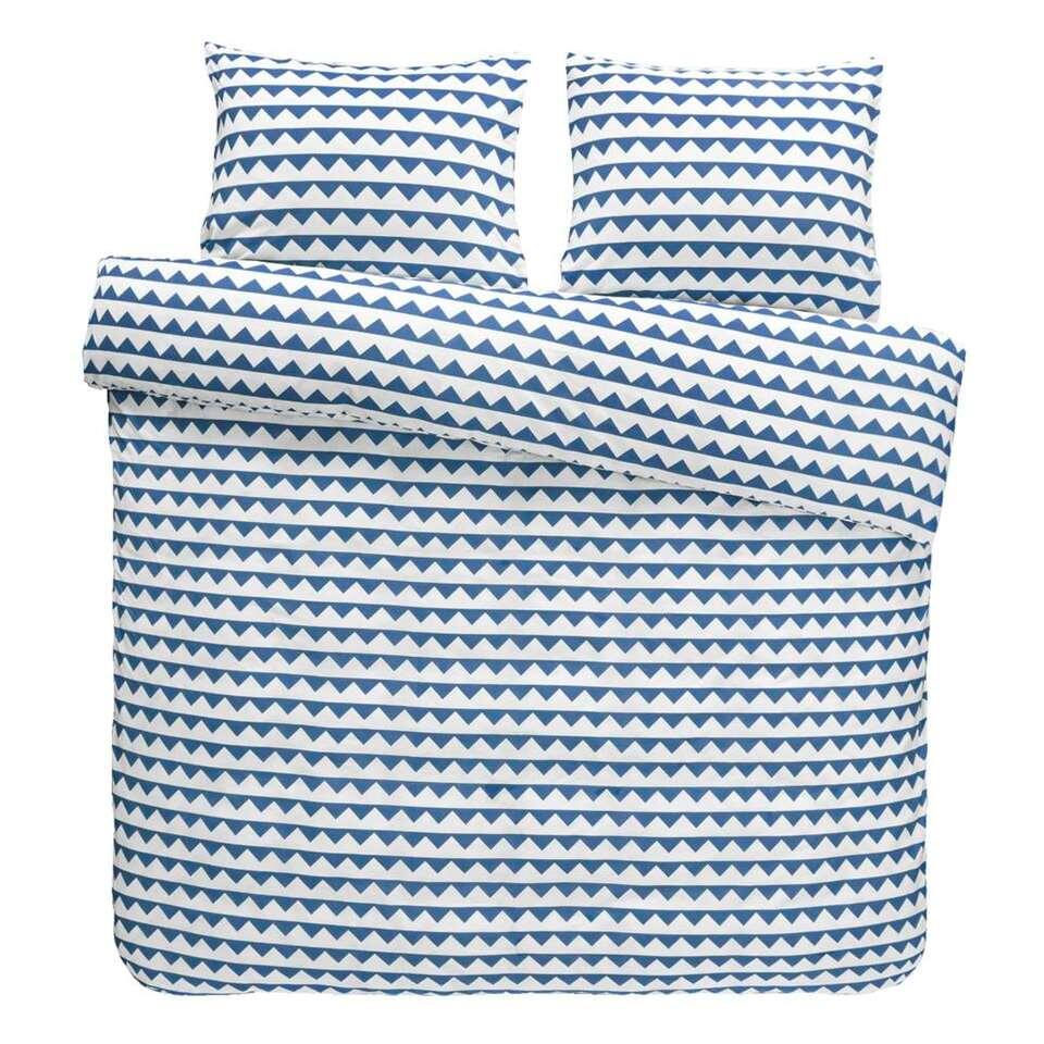 Easy dekbedovertrek Lund - blauw - 240x200 cm - Leen Bakker
