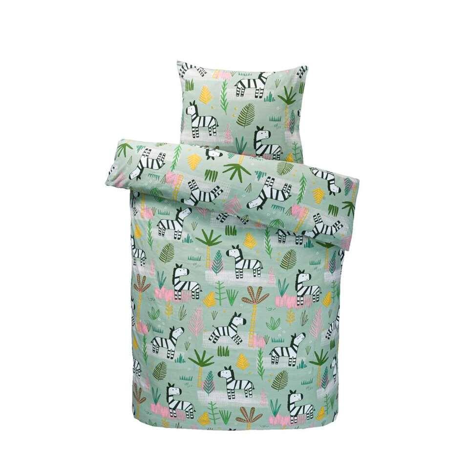 Comfort dekbedovertrek Soof - groen - 140x200 cm