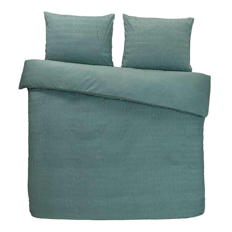 Comfort dekbedovertrek Matt - groen - 200x200/220 cm