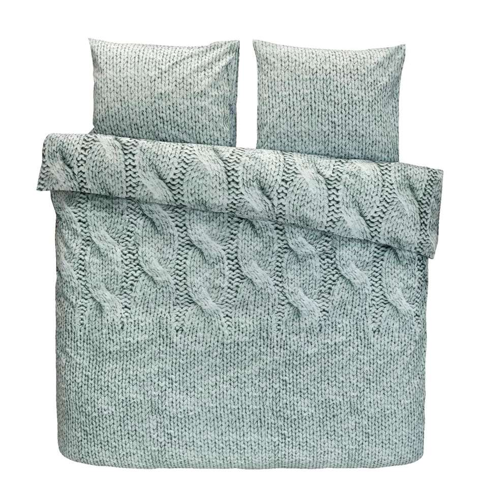 Ariadne at Home dekbedovertrek Cuddly - groen - 200x200/220 cm - Leen Bakker