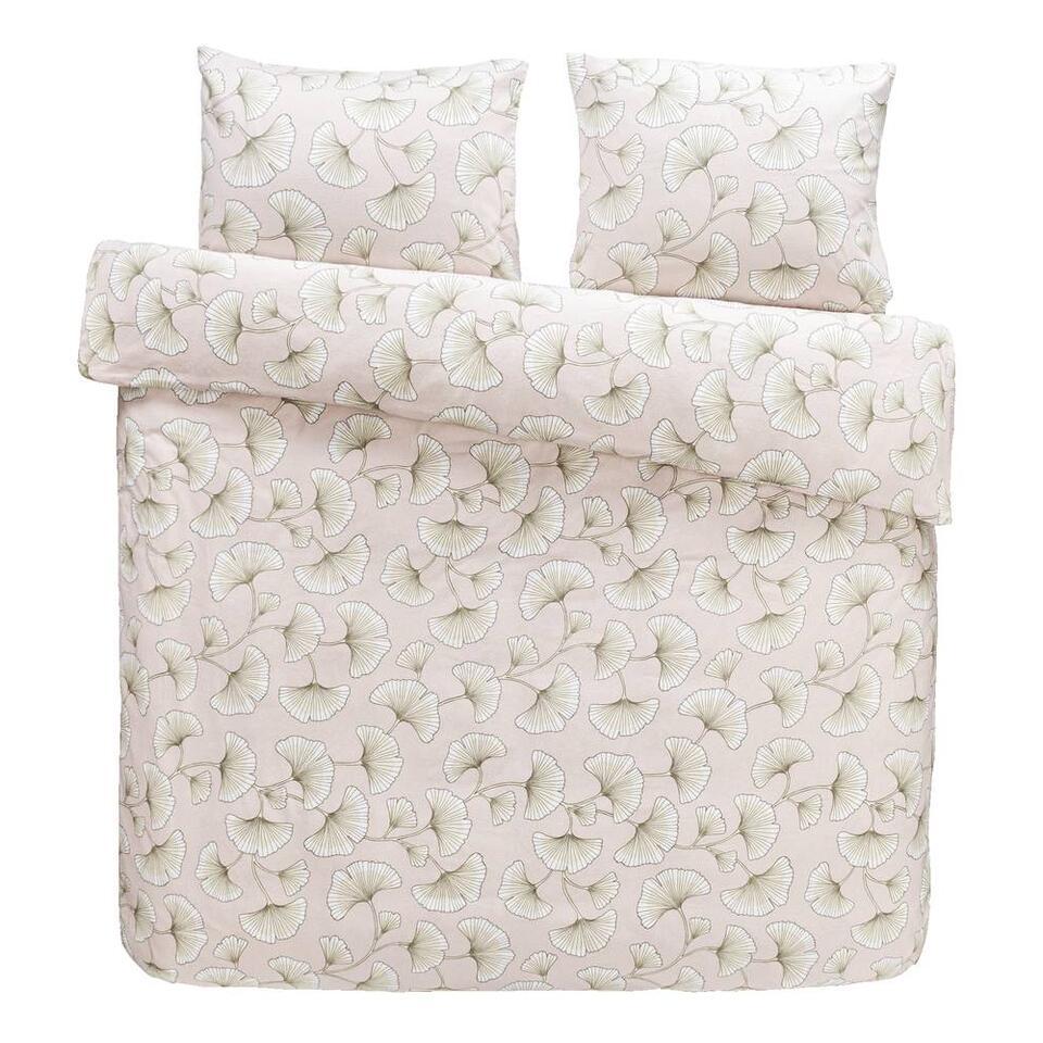 Comfort dekbedovertrek Indra - roze - 200x200 cm - Leen Bakker