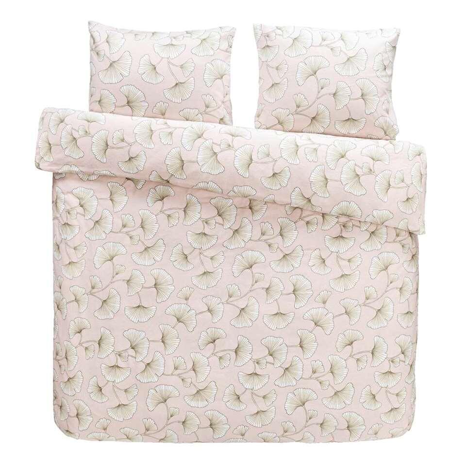 Comfort dekbedovertrek Indra - roze - 240x200 cm - Leen Bakker