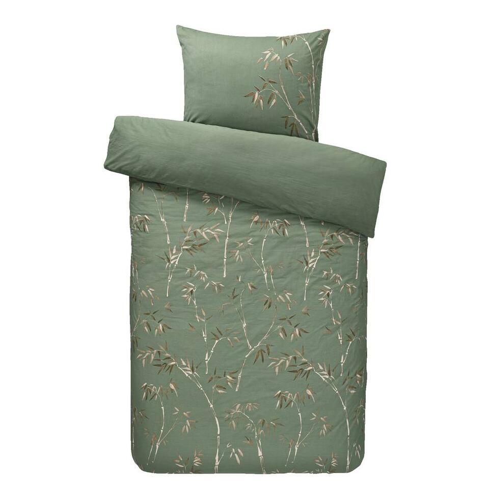 Comfort dekbedovertrek Muriel - groen - 140x200/220 cm