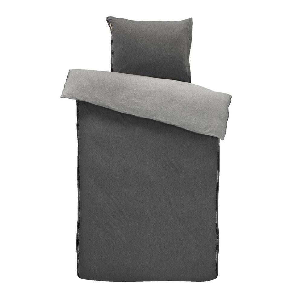 Walra dekbedovertrek Casual Beauty - grijs - 140x200/220 cm - Leen Bakker