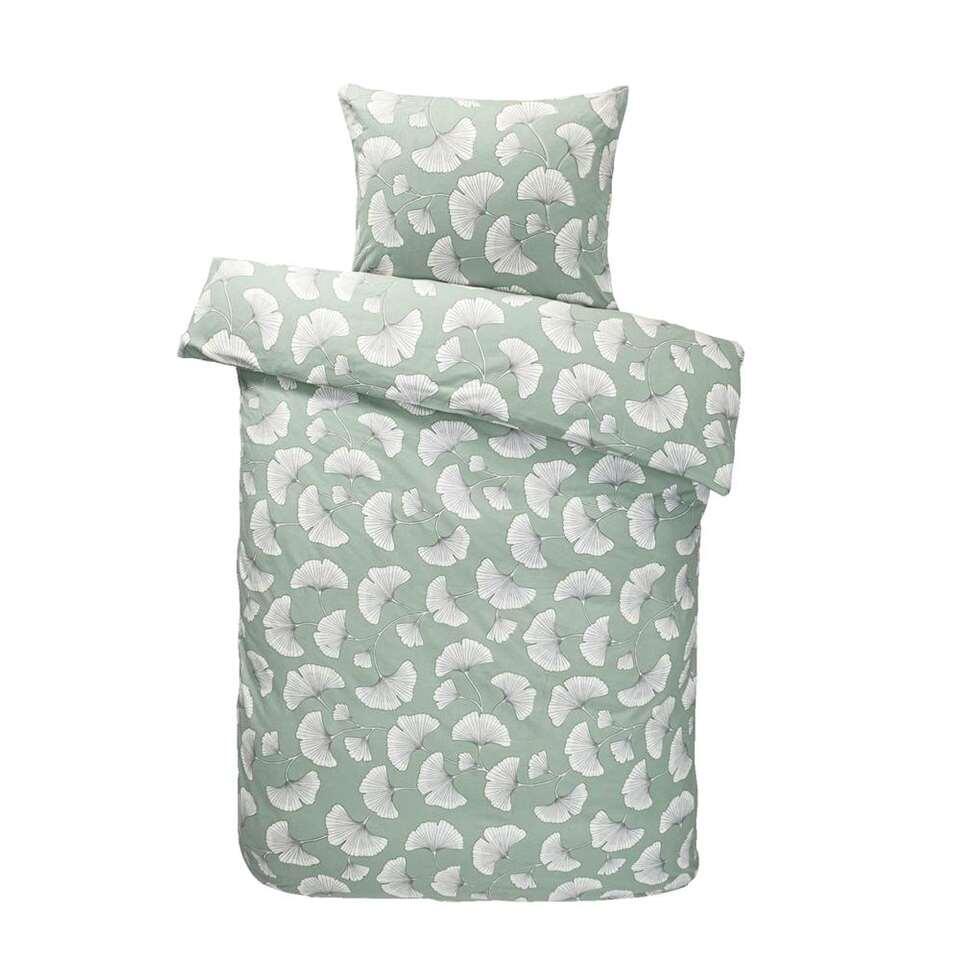 Comfort dekbedovertrek Indra - groen - 140x200 cm - Leen Bakker