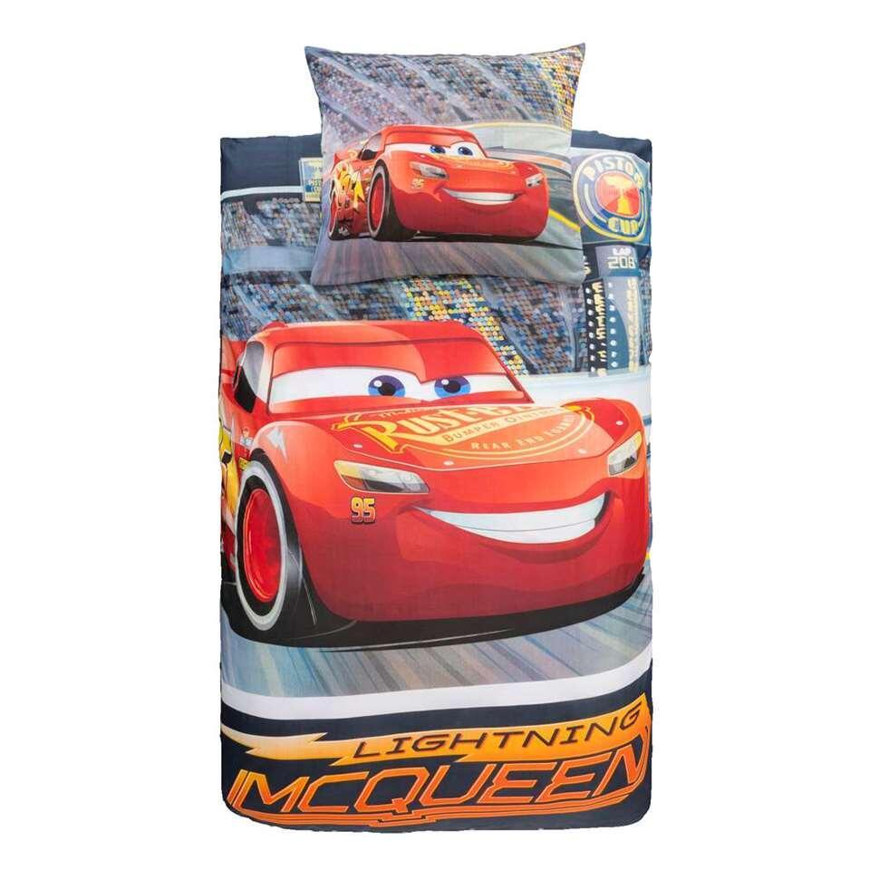 Comfort dekbedovertrek Disney Cars - grijs - 140x200 cm - Leen Bakker