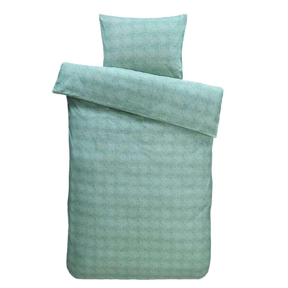 Comfort dekbedovertrek Jessie flanel - groen - 140x200/220 cm
