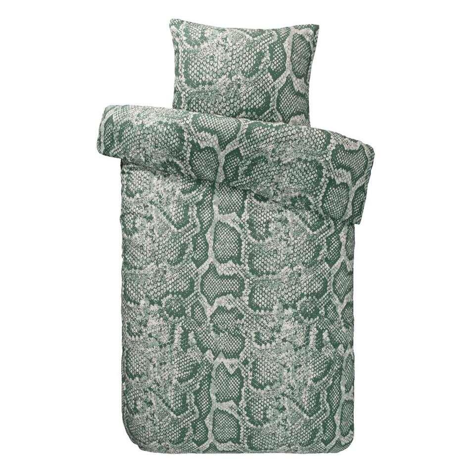 Comfort dekbedovertrek Cobra - groen - 140x200/220 cm