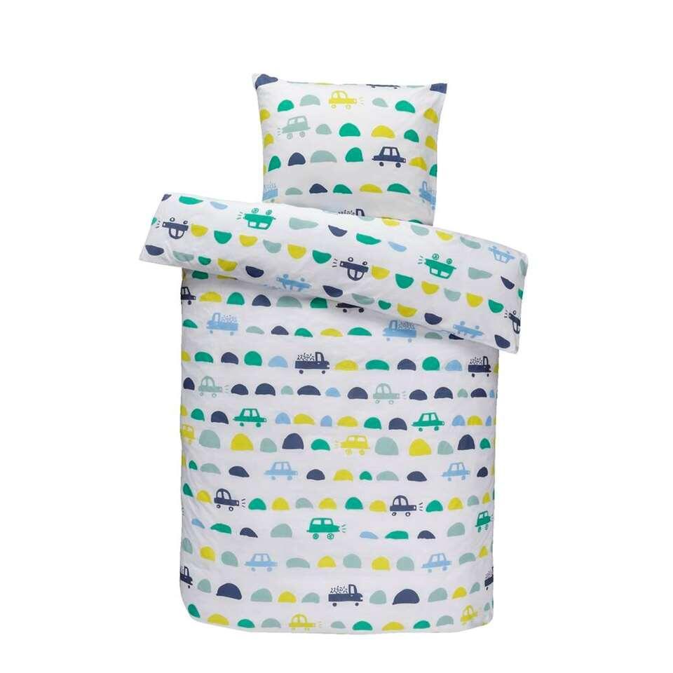 Comfort kinderdekbedovertrek Tobias - groen - 140x150 cm - Leen Bakker