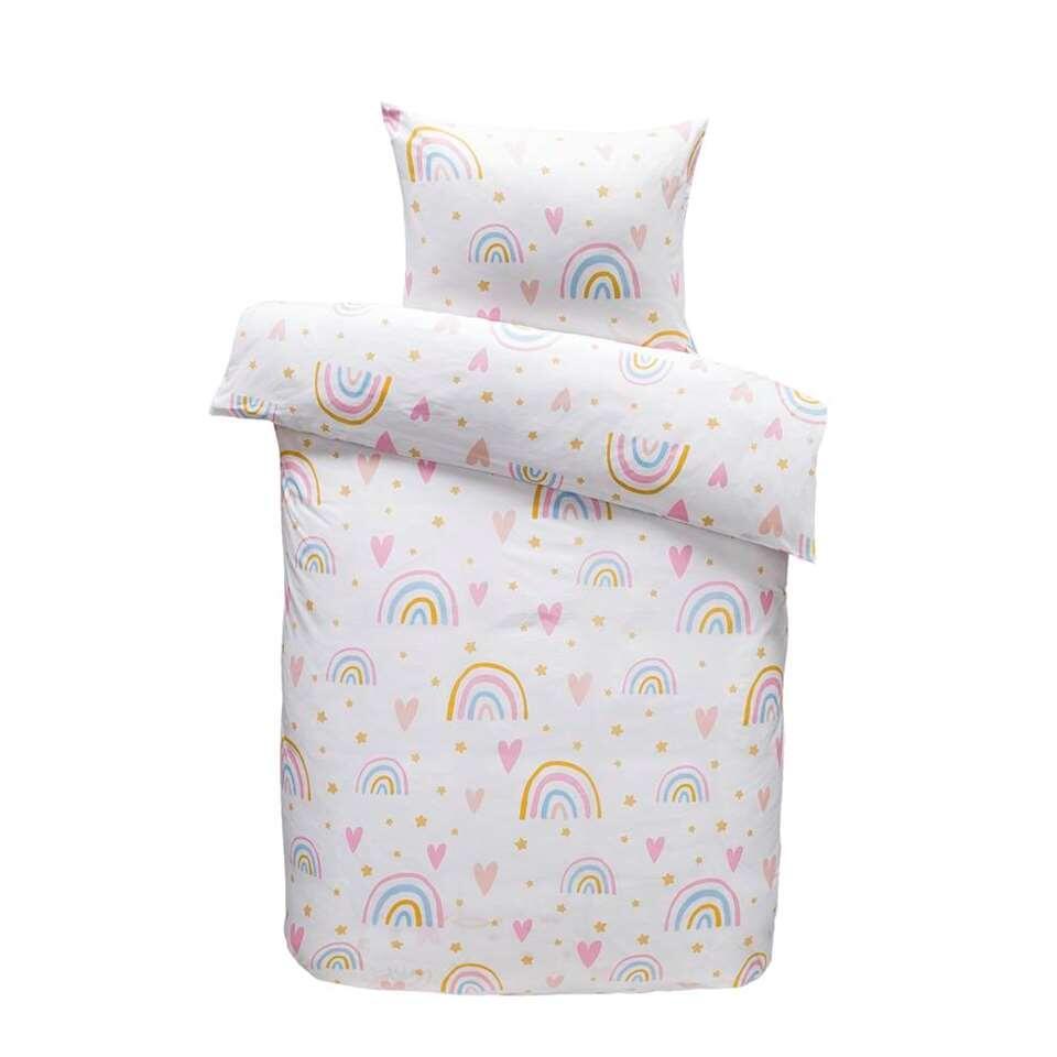 Comfort dekbedovetrek Saar - roze - 120x150 cm