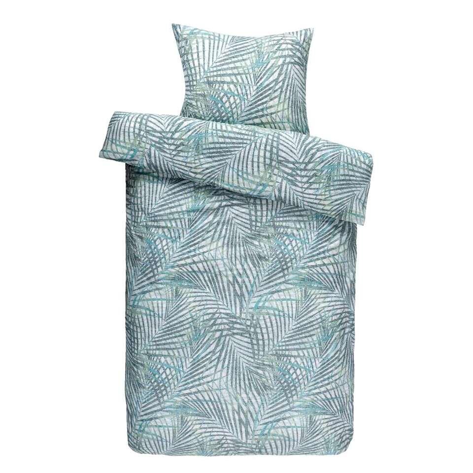 Comfort dekbedovertrek Damian - groen - 140x200/220 cm - Leen Bakker
