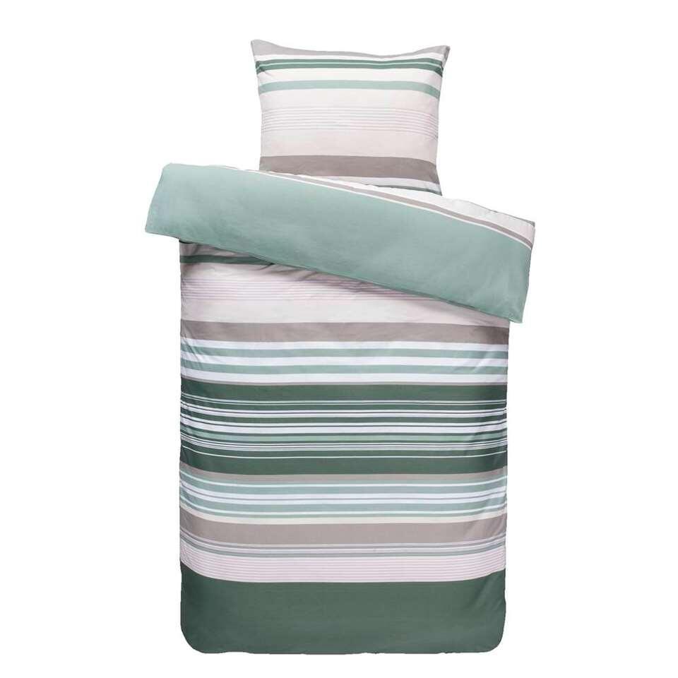 Comfort dekbedovertrek Gianni - groen/roze - 140x200/220 cm - Leen Bakker