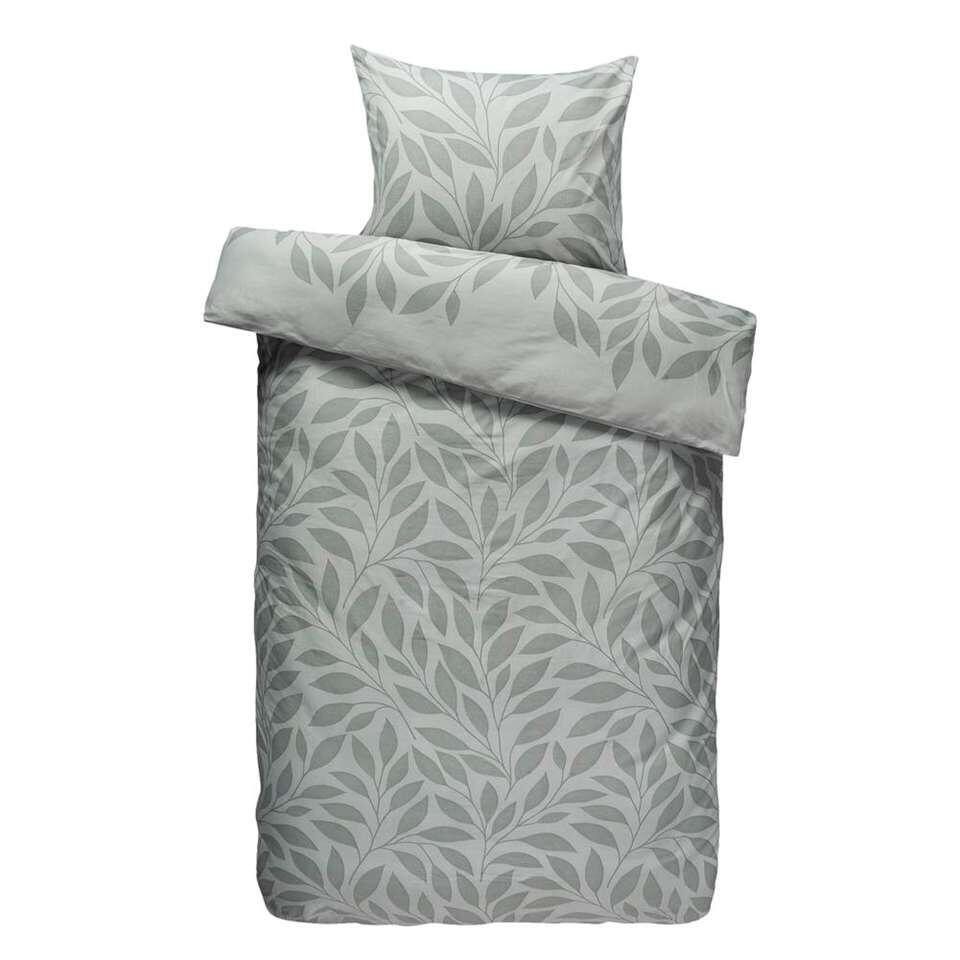 Comfort dekbedovertrek Laureen - groen - 140x200/220 cm - Leen Bakker