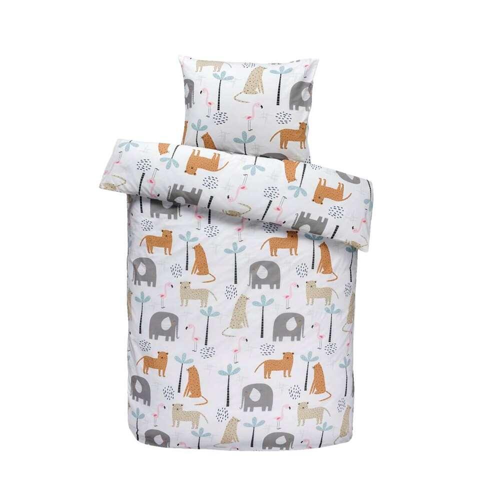 Comfort kinderdekbedovertrek Siep - wit - 120x150 cm