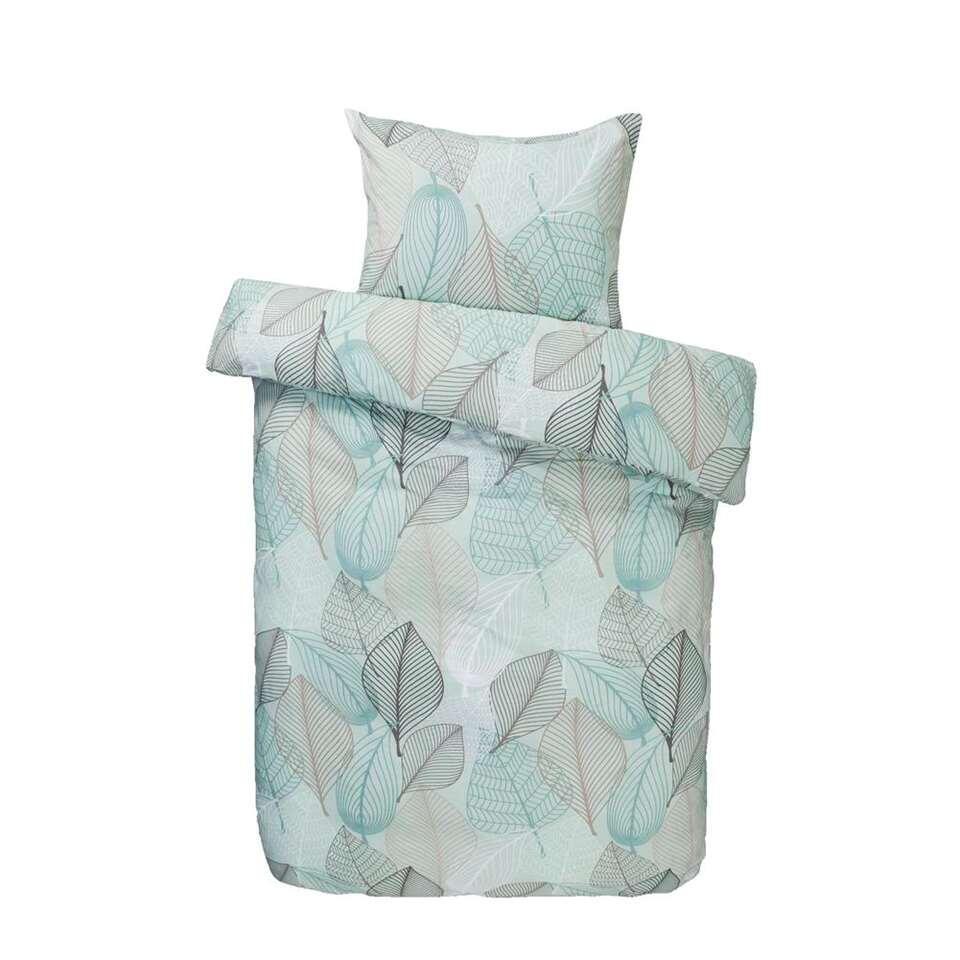 Dream dekbedovertrek Abby - groen - 140x200/220 cm - Leen Bakker